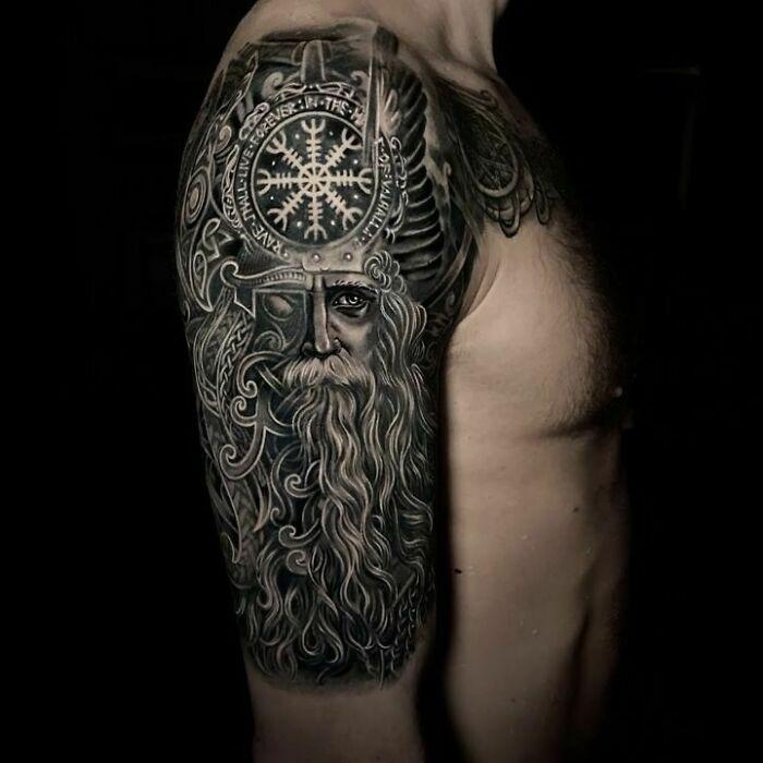 52 melhores tatuagem Viking e Nórdica para você se inspirar 14