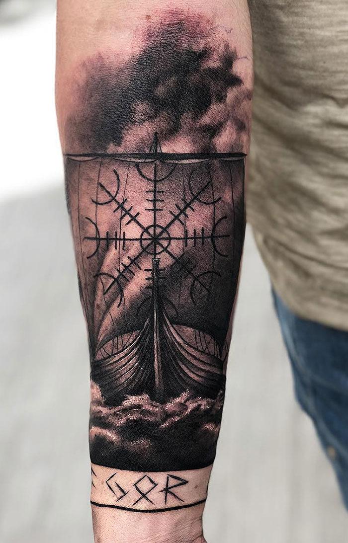 52 melhores tatuagem Viking e Nórdica para você se inspirar 15