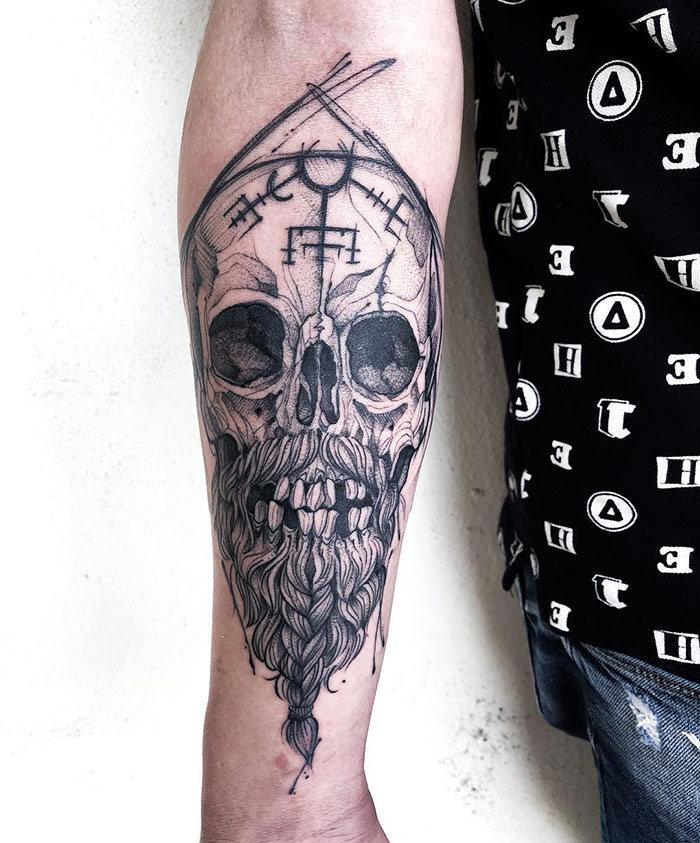 52 melhores tatuagem Viking e Nórdica para você se inspirar 17