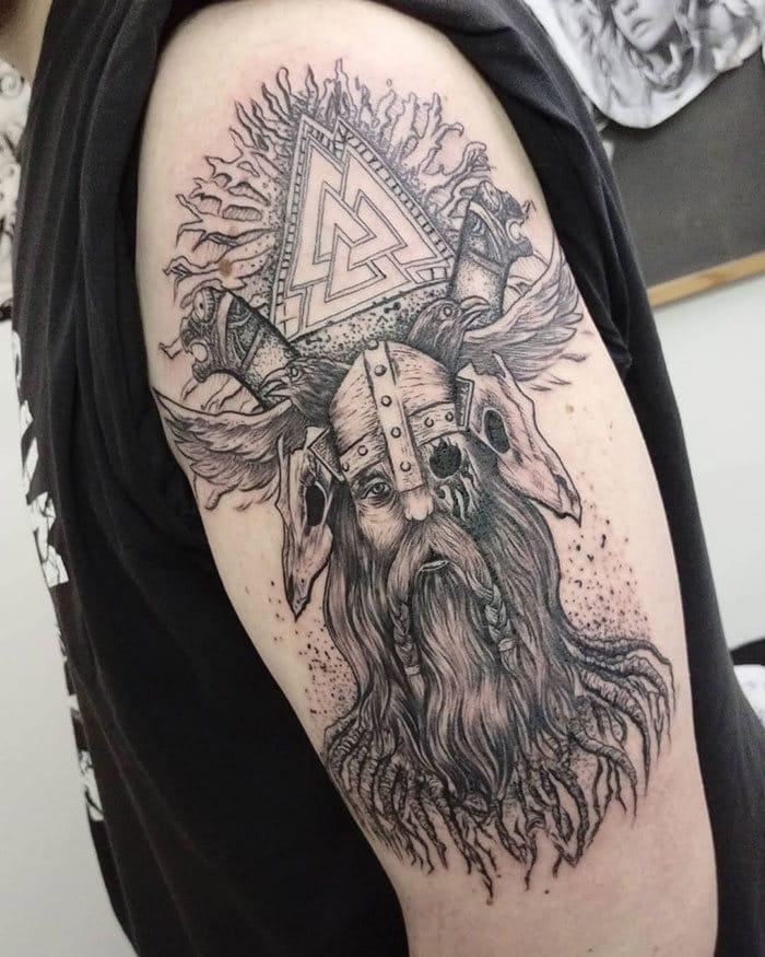52 melhores tatuagem Viking e Nórdica para você se inspirar 18