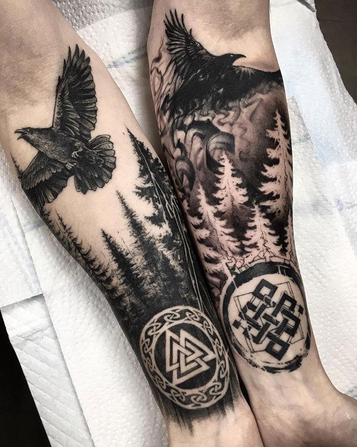 52 melhores tatuagem Viking e Nórdica para você se inspirar 20