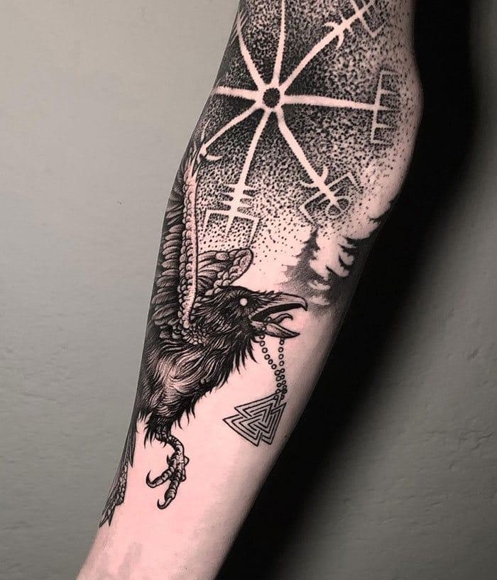 52 melhores tatuagem Viking e Nórdica para você se inspirar 22
