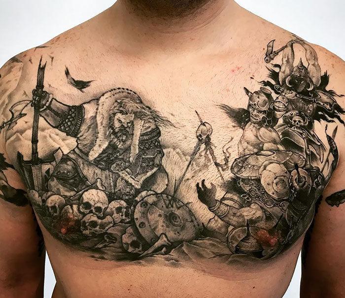 52 melhores tatuagem Viking e Nórdica para você se inspirar 23