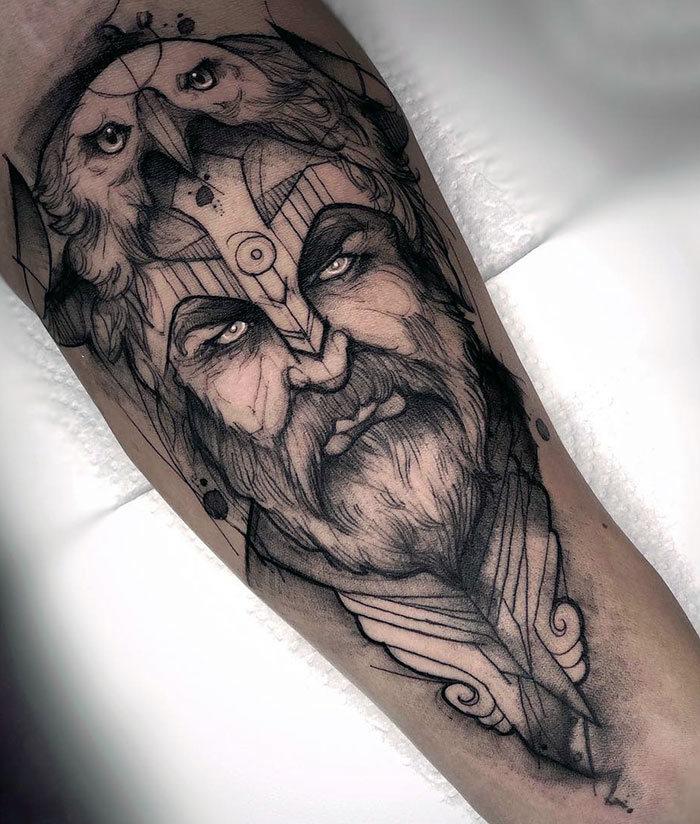 52 melhores tatuagem Viking e Nórdica para você se inspirar 24