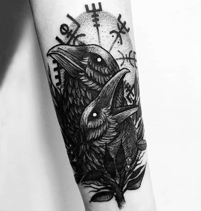 52 melhores tatuagem Viking e Nórdica para você se inspirar 25