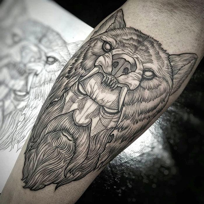 52 melhores tatuagem Viking e Nórdica para você se inspirar 32