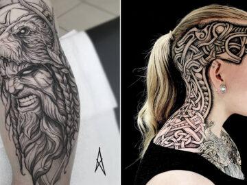 52 melhores tatuagem Viking e Nórdica para você se inspirar 21