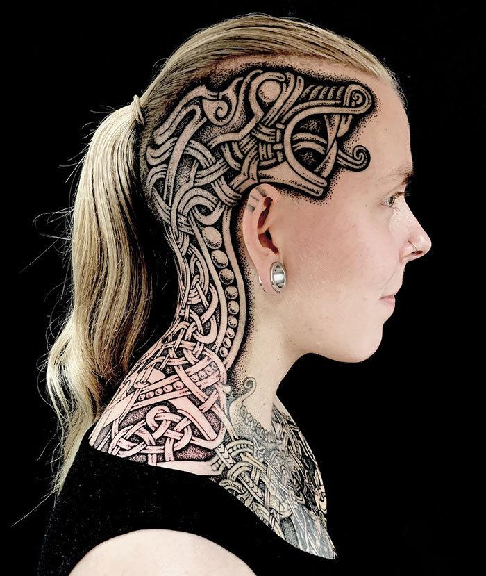 52 melhores tatuagem Viking e Nórdica para você se inspirar 38