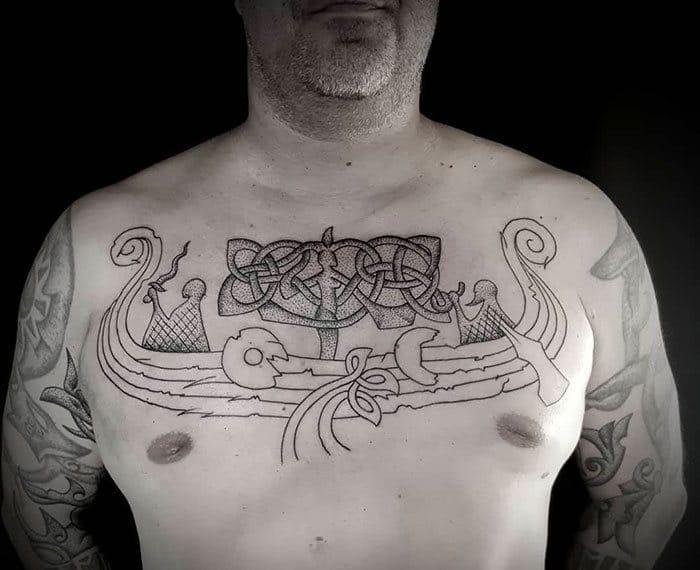 52 melhores tatuagem Viking e Nórdica para você se inspirar 42
