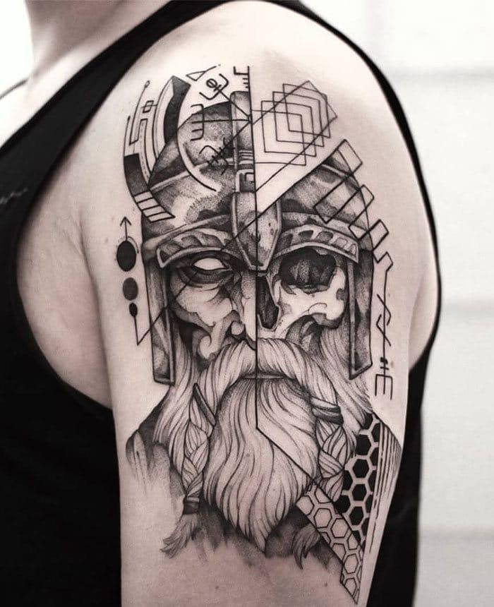 52 melhores tatuagem Viking e Nórdica para você se inspirar 43