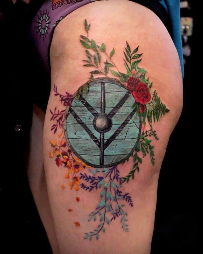 52 melhores tatuagem Viking e Nórdica para você se inspirar 45