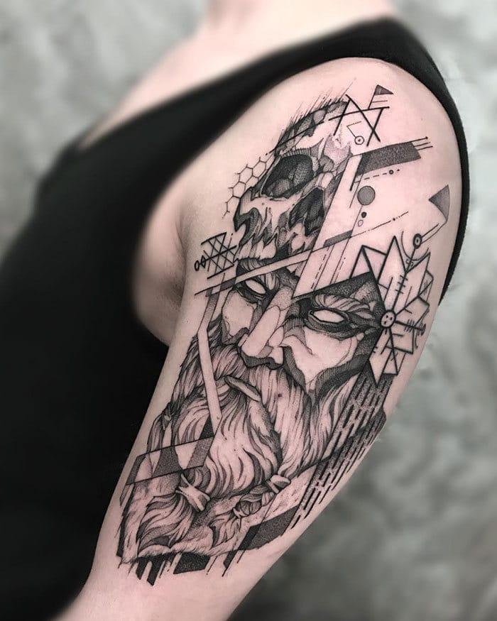 52 melhores tatuagem Viking e Nórdica para você se inspirar 46
