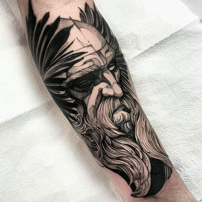 52 melhores tatuagem Viking e Nórdica para você se inspirar 49