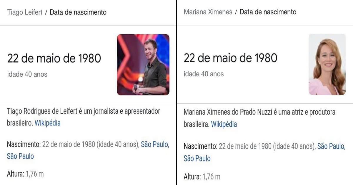 Quiz: Essas fotos são do Tiago Leifert ou da Mariana Ximenes? 2
