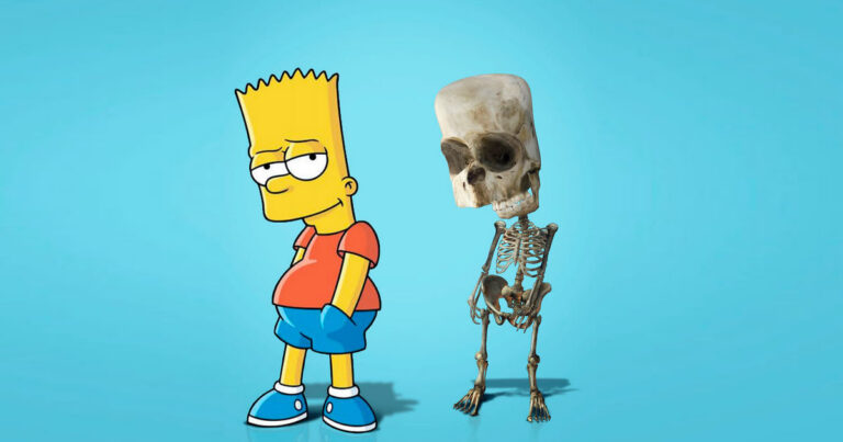 Como seriam os esqueletos de personagens de desenho animados, e isso pode te assustar 1