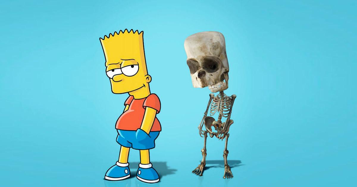 Como seriam os esqueletos de personagens de desenho animados, e isso pode te assustar 23