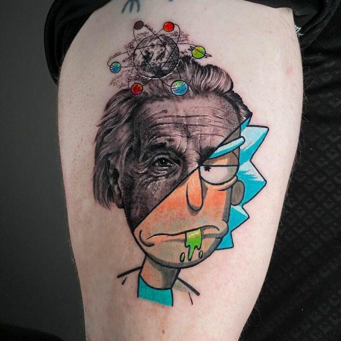 46 tatuagens de personagens populares misturadas em dois estilos diferentes 9
