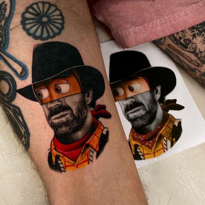 46 tatuagens de personagens populares misturadas em dois estilos diferentes 13