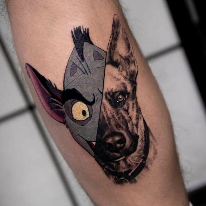 46 tatuagens de personagens populares misturadas em dois estilos diferentes 14