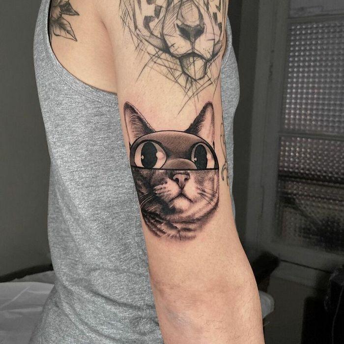 46 tatuagens de personagens populares misturadas em dois estilos diferentes 22