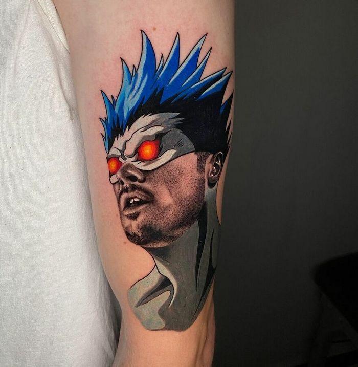 46 tatuagens de personagens populares misturadas em dois estilos diferentes 23