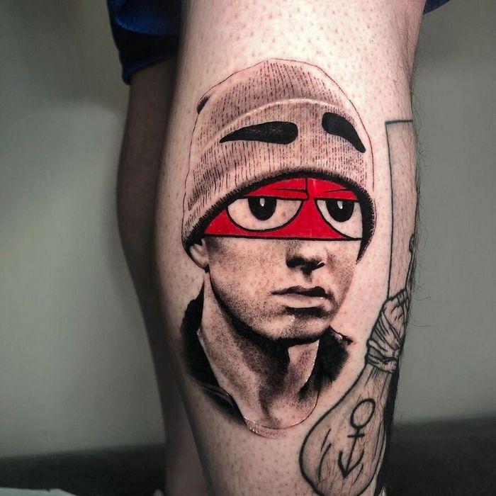 46 tatuagens de personagens populares misturadas em dois estilos diferentes 30