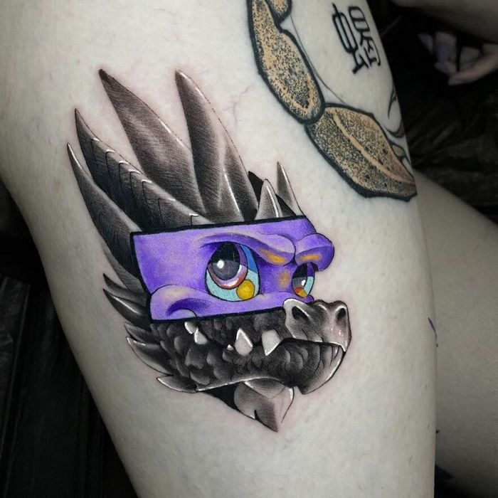 46 tatuagens de personagens populares misturadas em dois estilos diferentes 31