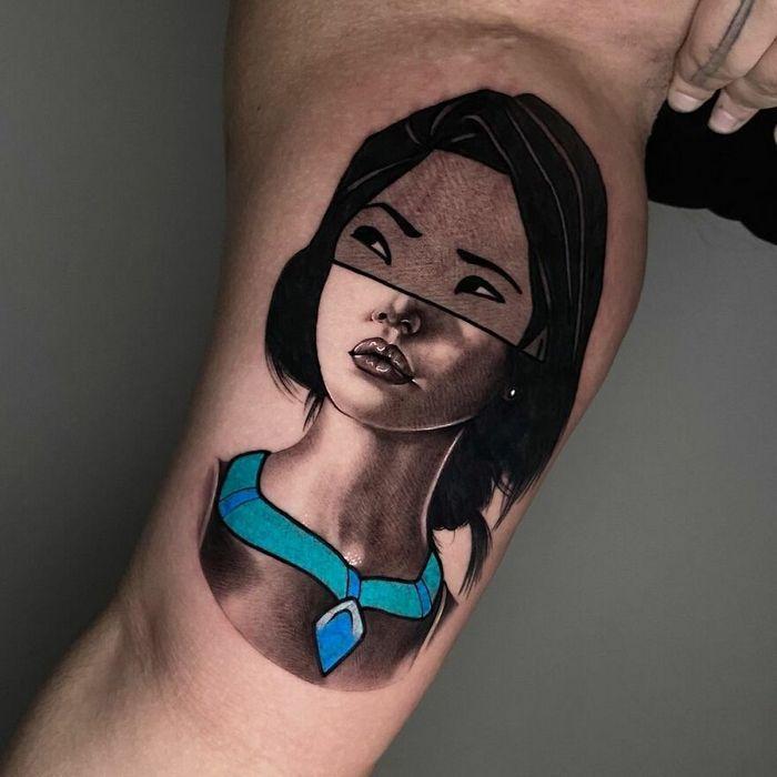 46 tatuagens de personagens populares misturadas em dois estilos diferentes 48
