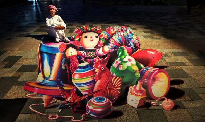 Um artista ilumina ruas com sua arte em 3D, tão mágica que vai fazer você questionar a realidade 10