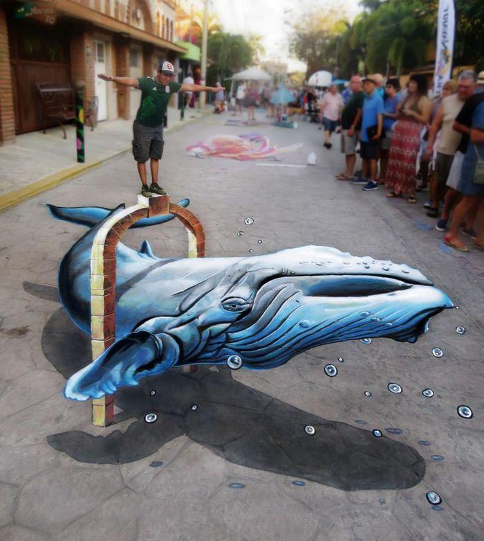 Um artista ilumina ruas com sua arte em 3D, tão mágica que vai fazer você questionar a realidade 13