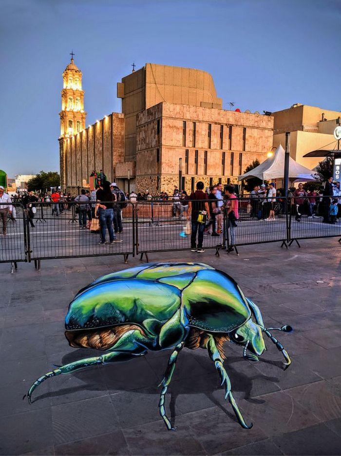 Um artista ilumina ruas com sua arte em 3D, tão mágica que vai fazer você questionar a realidade 15