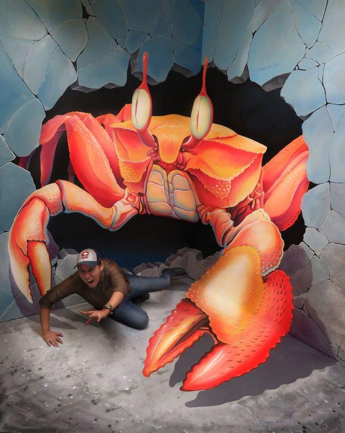 Um artista ilumina ruas com sua arte em 3D, tão mágica que vai fazer você questionar a realidade 19