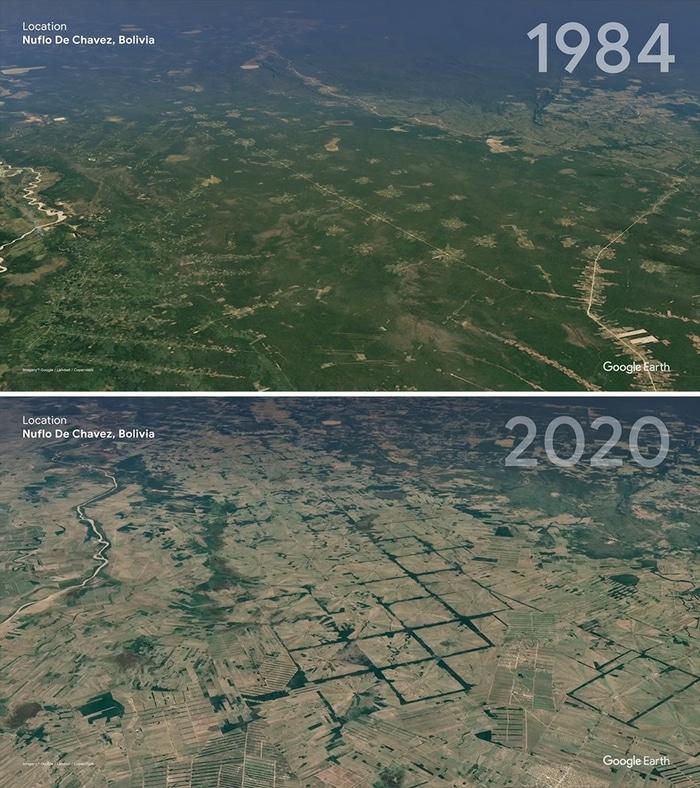 O Google Earth mostra o que os humanos fizeram com a Terra de 1984 a 2020 2