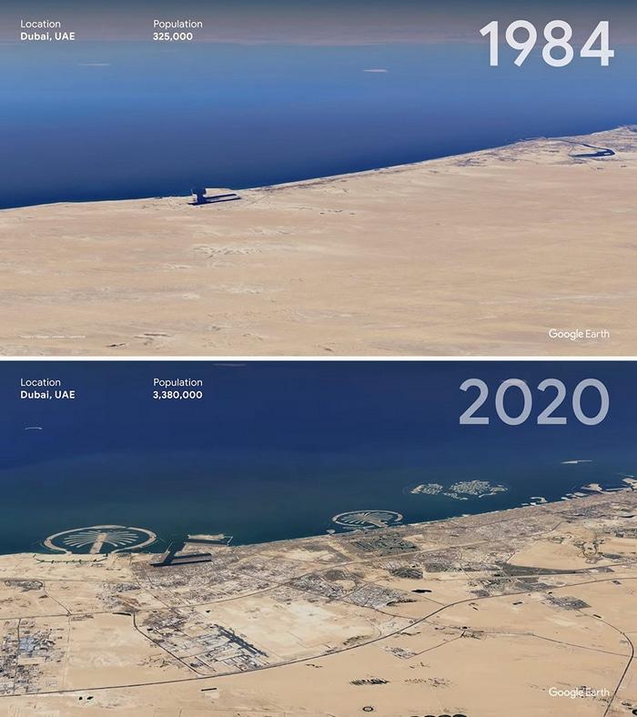 O Google Earth mostra o que os humanos fizeram com a Terra de 1984 a 2020 5