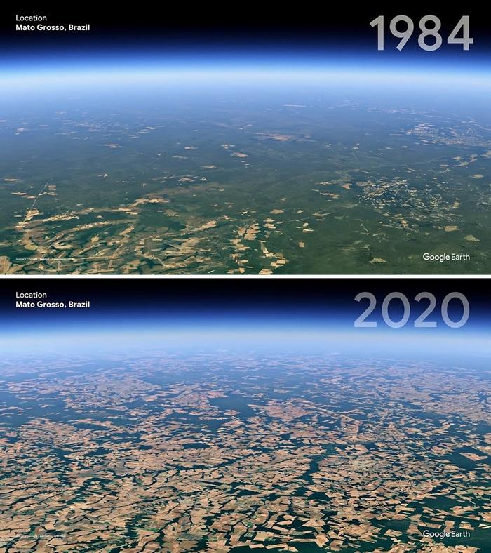 O Google Earth mostra o que os humanos fizeram com a Terra de 1984 a 2020 7