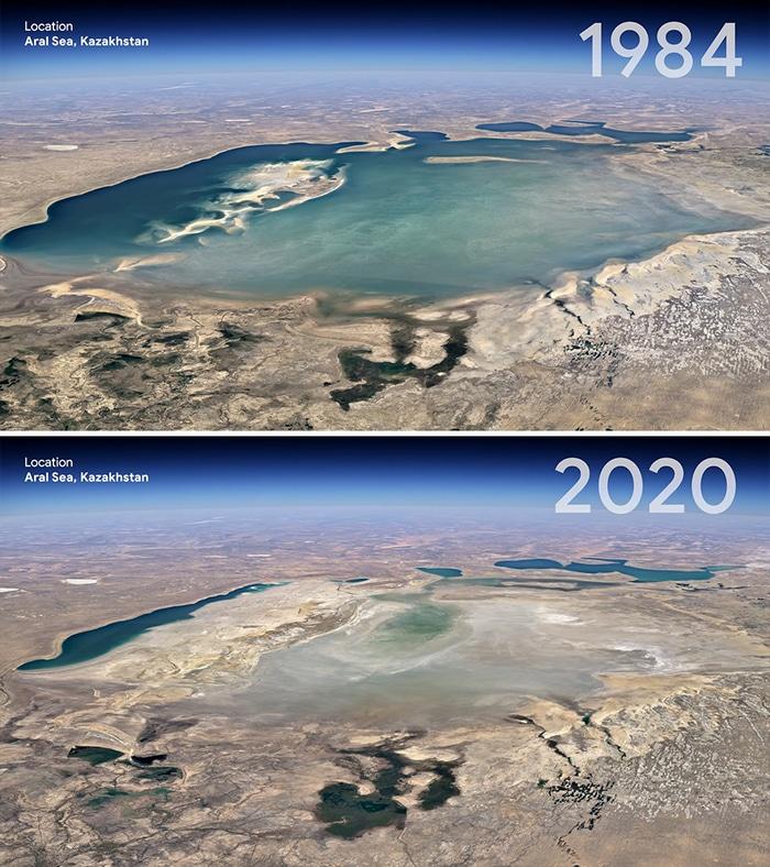 O Google Earth mostra o que os humanos fizeram com a Terra de 1984 a 2020 9