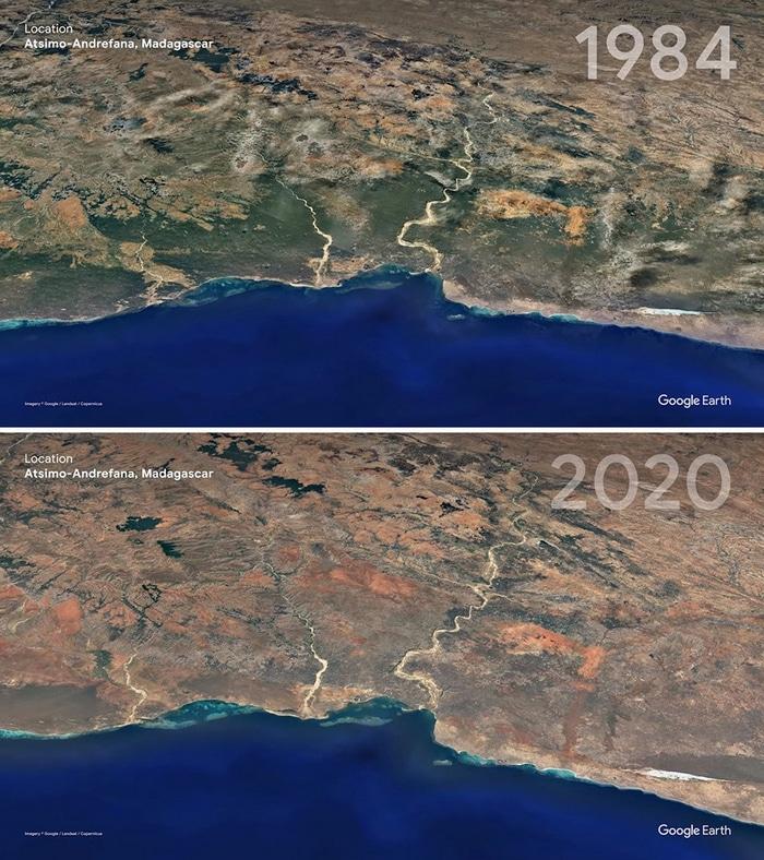 O Google Earth mostra o que os humanos fizeram com a Terra de 1984 a 2020 12