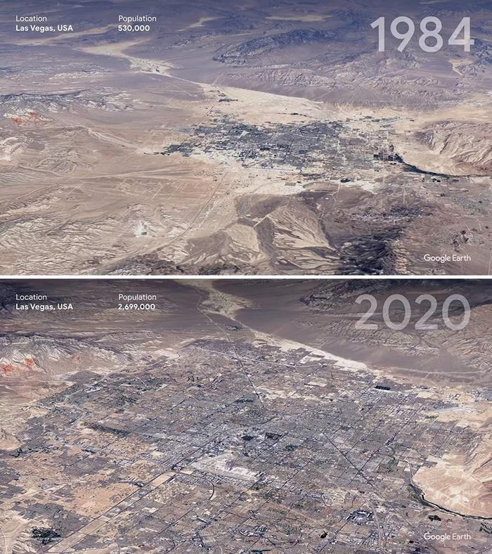 O Google Earth mostra o que os humanos fizeram com a Terra de 1984 a 2020 13