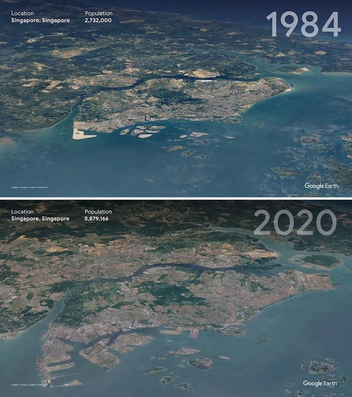 O Google Earth mostra o que os humanos fizeram com a Terra de 1984 a 2020 14