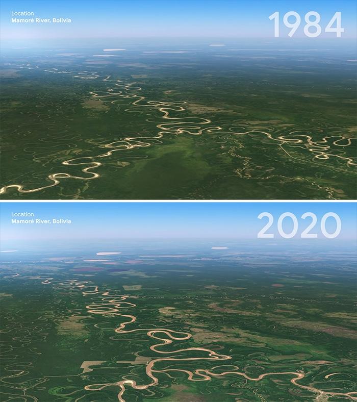 O Google Earth mostra o que os humanos fizeram com a Terra de 1984 a 2020 16