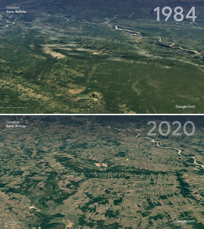 O Google Earth mostra o que os humanos fizeram com a Terra de 1984 a 2020 18