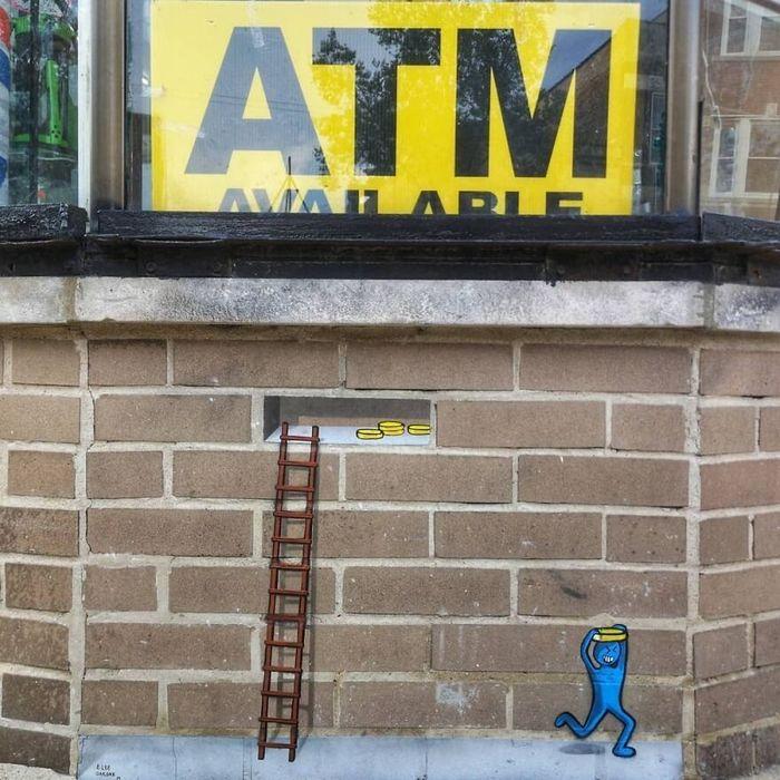 Artista francês cria arte humorística nas ruas de Paris 2