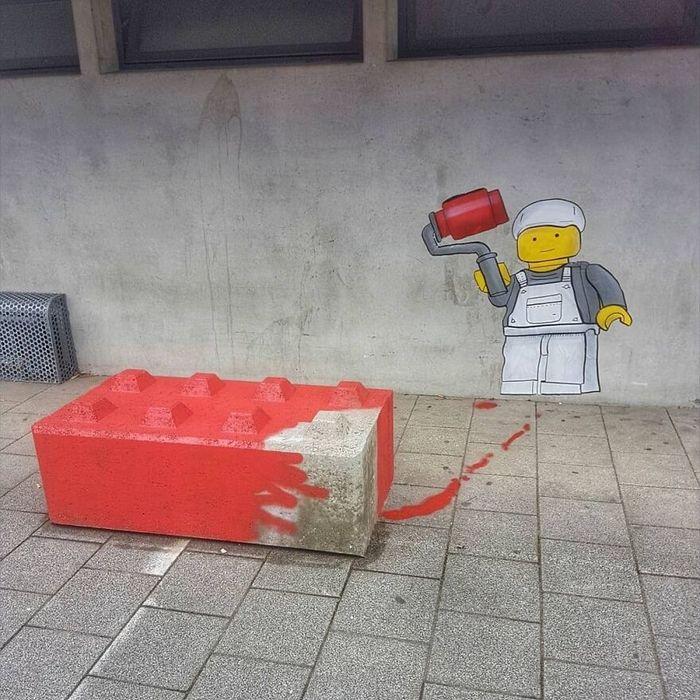 Artista francês cria arte humorística nas ruas de Paris 18