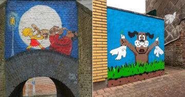 Artista francês cria arte humorística nas ruas de Paris 13
