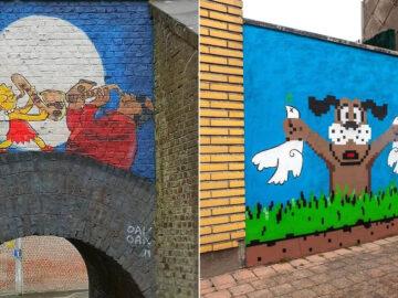 Artista francês cria arte humorística nas ruas de Paris 53