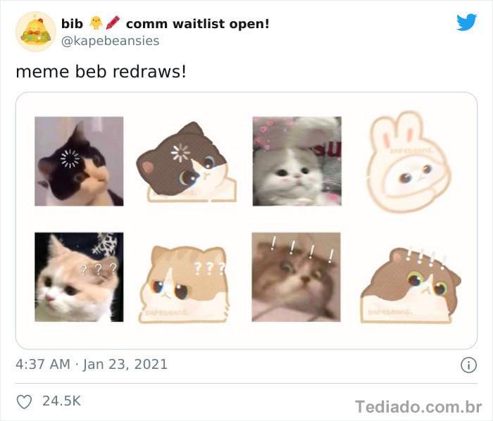 Bib transforma fotos engraçadas de animais em desenhos fofos 12