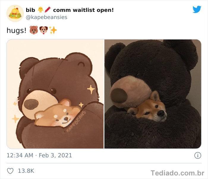 Bib transforma fotos engraçadas de animais em desenhos fofos 15