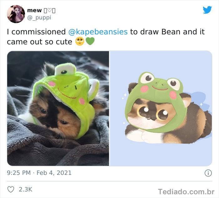 Bib transforma fotos engraçadas de animais em desenhos fofos 16