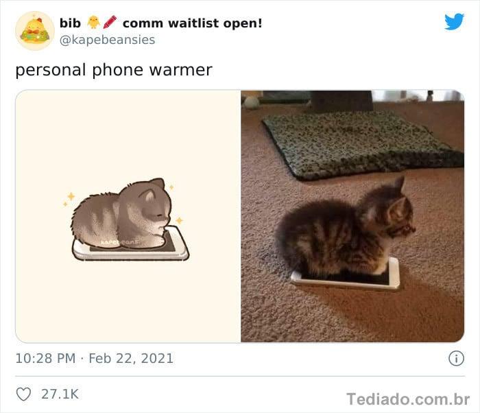 Bib transforma fotos engraçadas de animais em desenhos fofos 18