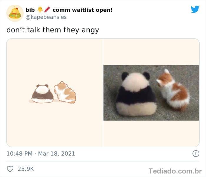 Bib transforma fotos engraçadas de animais em desenhos fofos 26
